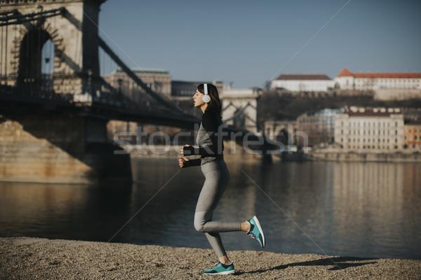 Młodych kobiet sportowiec uruchomiony Budapeszt Zdjęcia stock © boggy