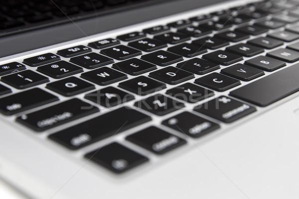Tastiera del computer portatile primo piano dettaglio moderno tecnologia chiave Foto d'archivio © boggy