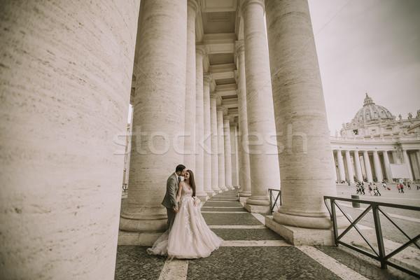 свадьба пару Ватикан Рим Италия молодые Сток-фото © boggy
