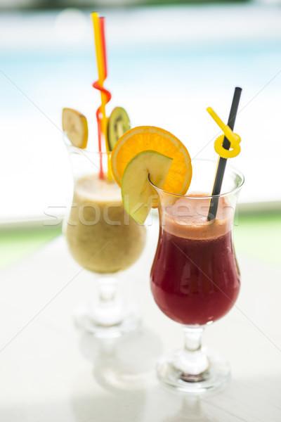 Fruits frais jus vue verre boire Photo stock © boggy