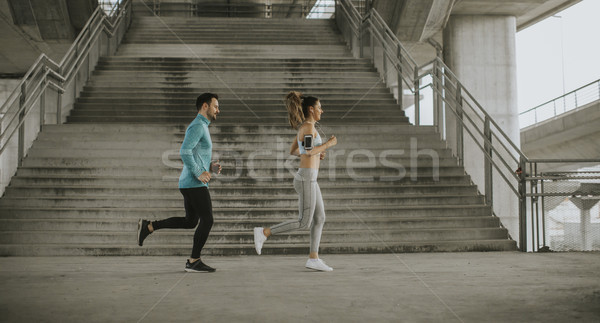Courir urbaine homme sport fitness Photo stock © boggy