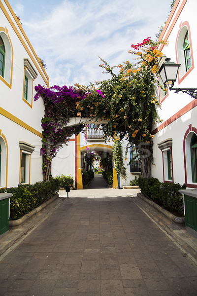 Spanje traditioneel gebouwen stedelijke architectuur Stockfoto © boggy