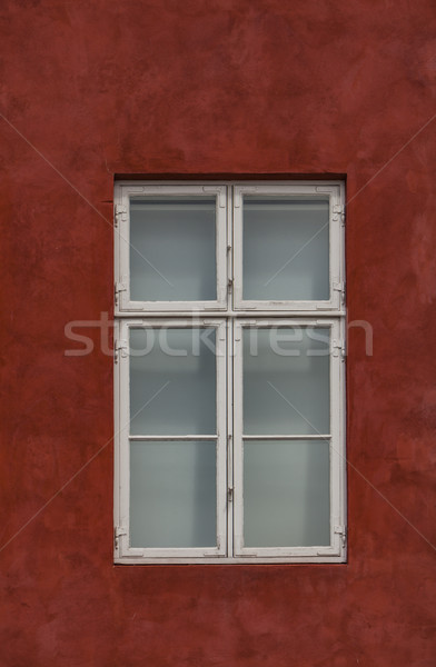 Window on the colorful facade Stock photo © boggy