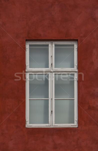 Ventana colorido fachada puerto Copenhague Dinamarca Foto stock © boggy