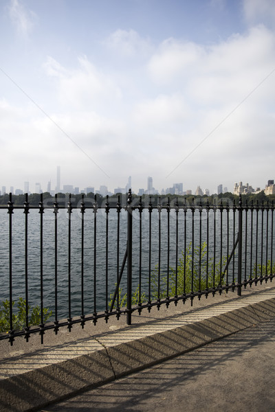 Pormenor Central Park New York City EUA linha do horizonte lago Foto stock © boggy