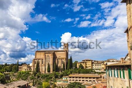 Bazilika görmek sokak kilise mimari kule Stok fotoğraf © boggy