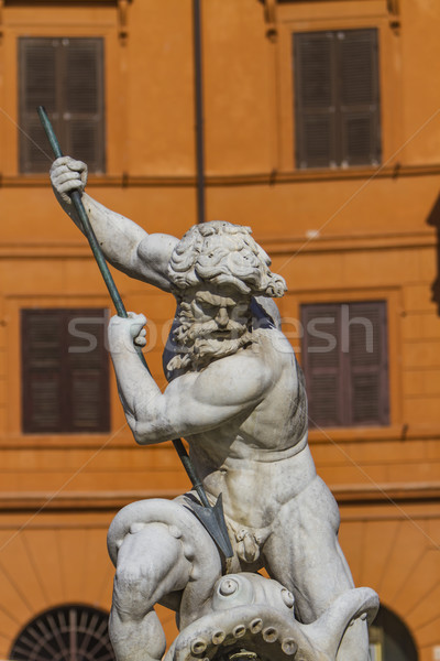 Fountain of Neptune at Piazza Navona in Rome Stock photo © boggy