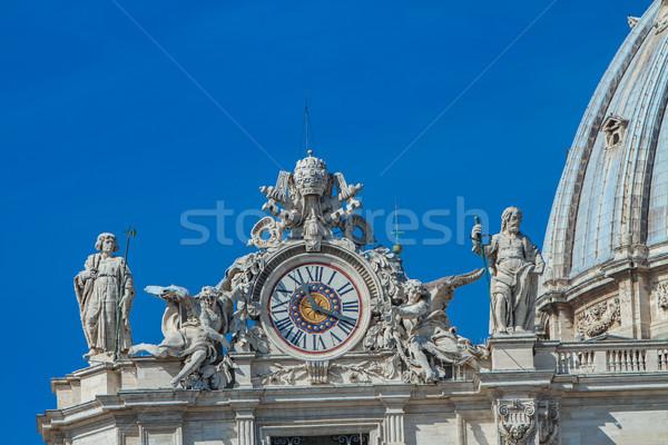 часы фасад святой базилика Ватикан Рим Сток-фото © boggy