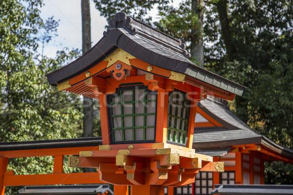 Szentély Kiotó Japán részlet épület piros Stock fotó © boggy