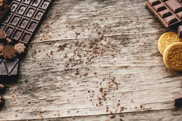 Chocolate biscoitos ver textura Foto stock © boggy