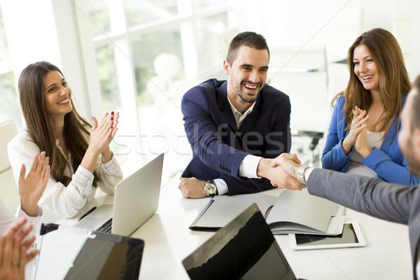 ビジネスの方々  握手 アップ 会議 表示 ストックフォト © boggy