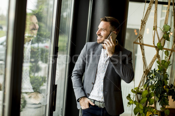 Man with phone Stock photo © boggy