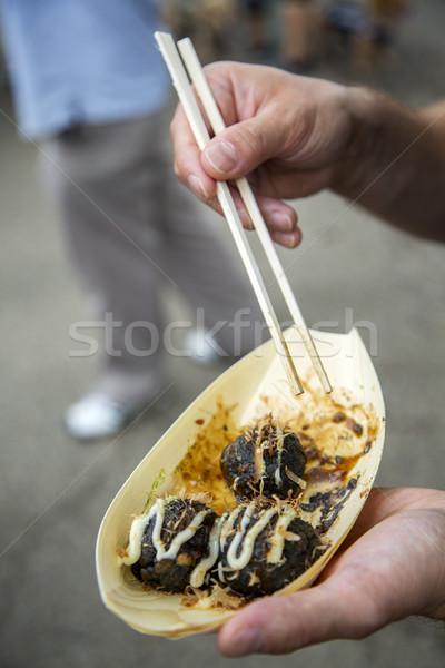 Ninja rice balls Stock photo © boggy