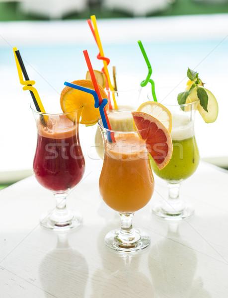 Fresh fruit juice Stock photo © boggy