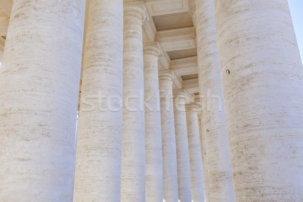 Colonnade in Piazza San Pietro (St Peter's Square) in Vatican Stock photo © boggy