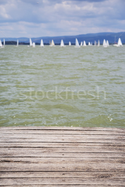 Dock with water surface Stock photo © boggy