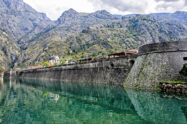 Kotor City Wall Fortification, Montenegro Stock photo © boggy