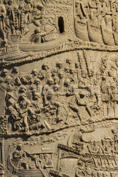 Trajan column in Rome Stock photo © boggy