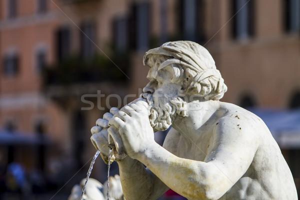 Fountain of Neptune, Piazza Navona, Rome, Italy Stock photo © boggy
