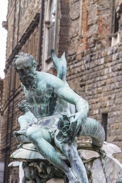 Fountain of Neptune in Florence, Italy Stock photo © boggy