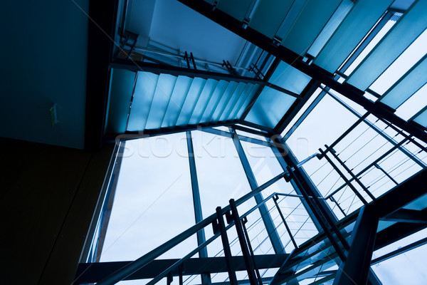 Edificio de oficinas interior moderna iluminado negocios edificio Foto stock © boggy