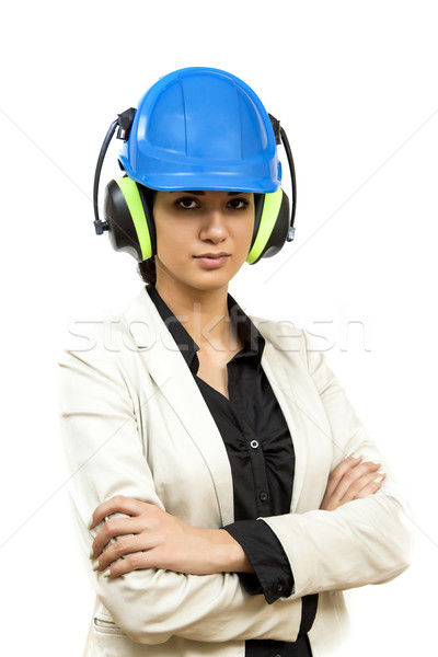 Young woman with protective workwear Stock photo © boggy