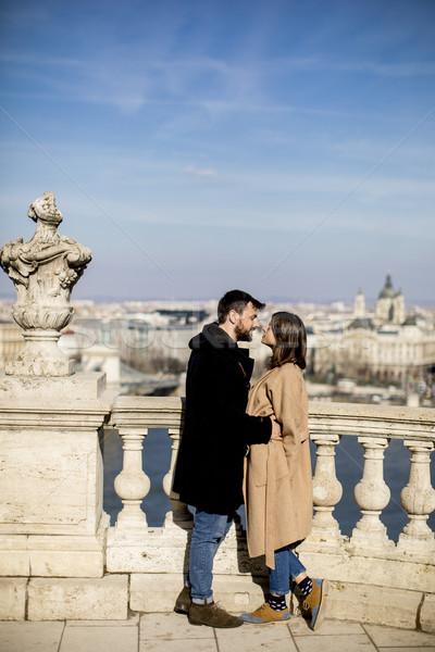 Casal amor magnífico paisagem ver Foto stock © boggy