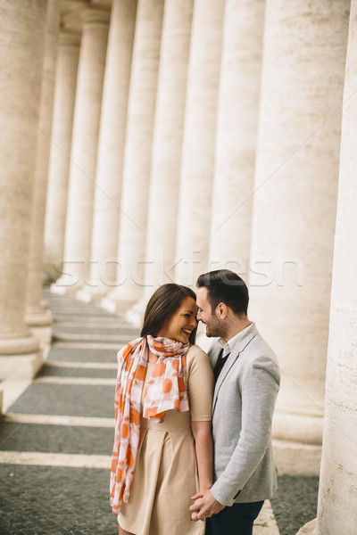 любящий пару квадратный Ватикан женщину человека Сток-фото © boggy