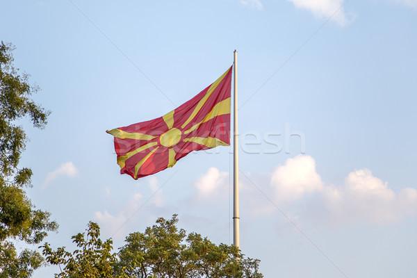Vlag wind vlaggestok land banner overheid Stockfoto © boggy