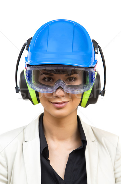 Young woman in protective workwear Stock photo © boggy