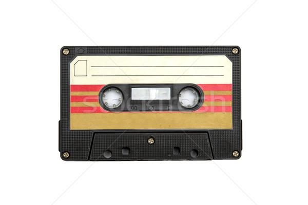 Vintage audio cassette isolated white background Stock photo © boggy