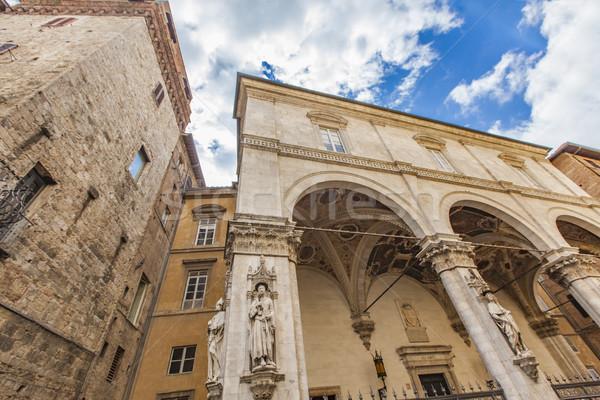 Loggia della Mercanzia in Siena Stock photo © boggy