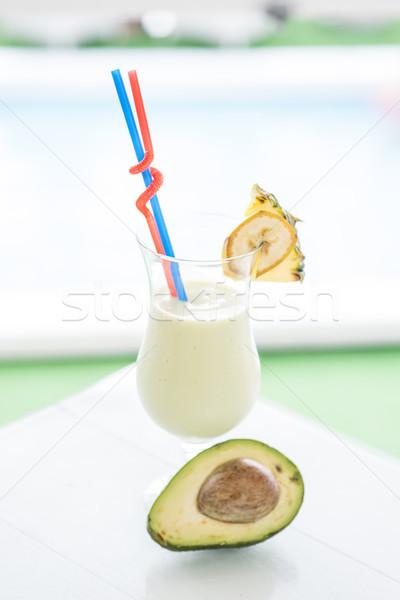 新鮮な スムージー バナナ 表示 自然 表 ストックフォト © boggy