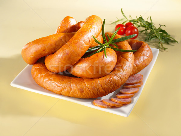 Sausage on a plate Stock photo © bogumil
