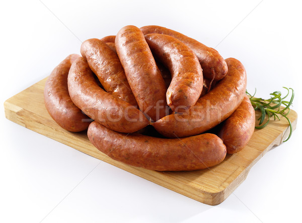 Sausage on kitchen board Stock photo © bogumil