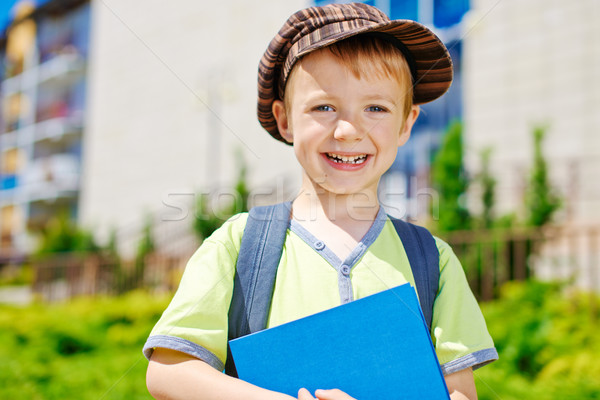 Okul genç şık erkek kitap Stok fotoğraf © bogumil