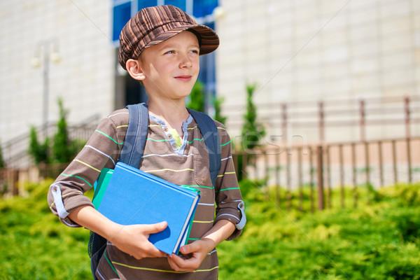 Okul genç dalgın çocuk Stok fotoğraf © bogumil