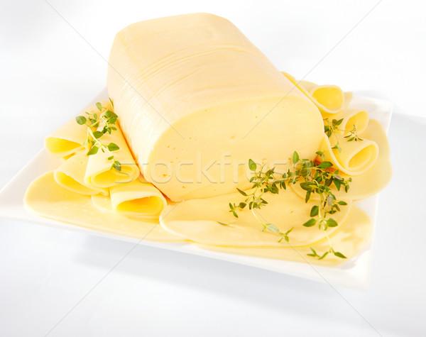 Foto d'archivio: Formaggio · fresche · giallo · piatto · natura · sfondo