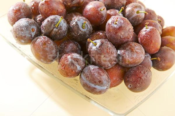 Molhado prato fruto saúde verde Foto stock © bogumil