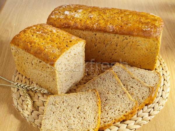 パン 小麦 表 食品 ストックフォト © bogumil