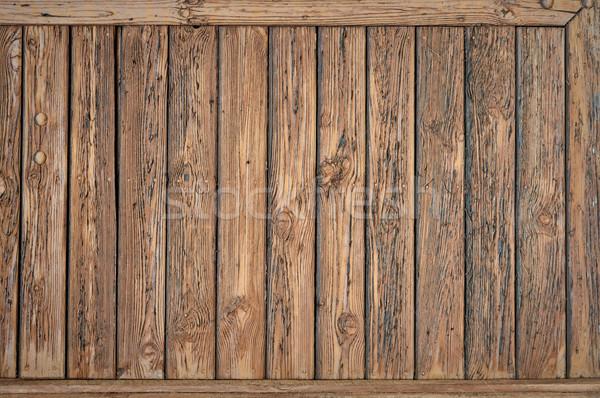 Eski ahşap dikey ağaç duvar dizayn Stok fotoğraf © bogumil