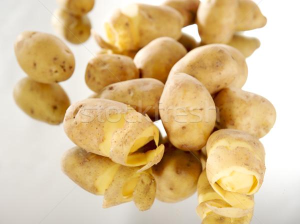 Geschält Kartoffeln Essen Gesundheit Erde Essen Stock foto © bogumil