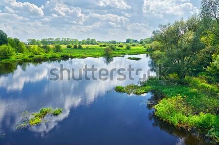 Сток-фото: весны · пейзаж · реке · облака · небе · воды