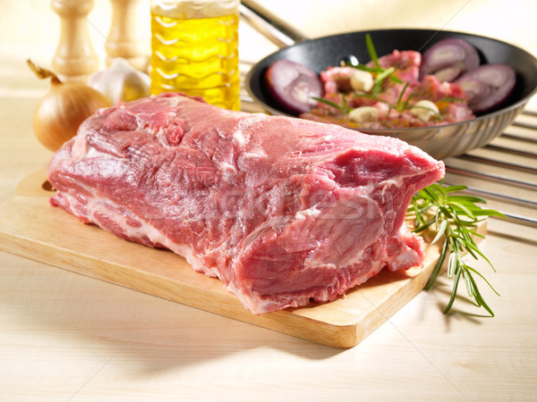 Raw Pork Shoulder Square Cut With The Bone Stock photo © bogumil