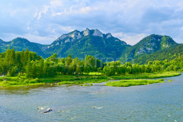 The Three Crowns Mountain over The Dunajec River in Poland. Stock photo © bogumil