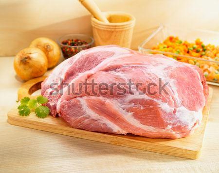 Aves de corral carne cocina bordo pollo Foto stock © bogumil