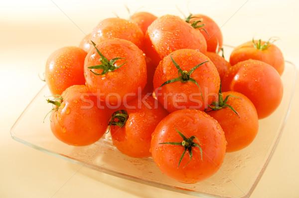 Grup olgun domates plaka akşam yemeği pazar Stok fotoğraf © bogumil