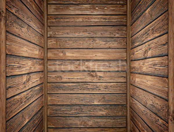 Velho profundo interior árvore parede Foto stock © bogumil