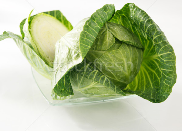 Cavolo metà sfondo testa insalata bianco Foto d'archivio © bogumil
