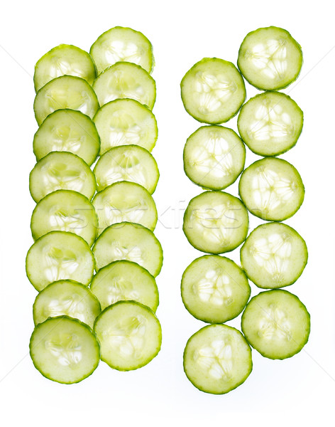 Slices of cucumber isolated on white background Stock photo © bogumil